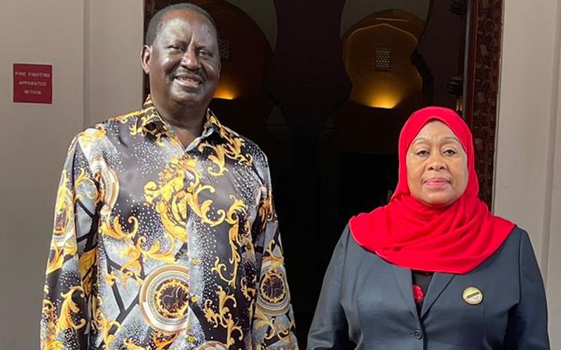 Raila azuru TZ akiwa njiani kurejea Kenya kutoka Zambia